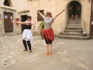 commedia workshop in Italy