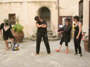 commedia workshop in Florence Italy