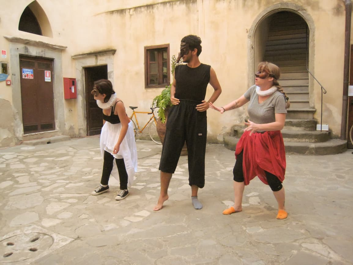 commedia dell arte workshop in Florence Italy