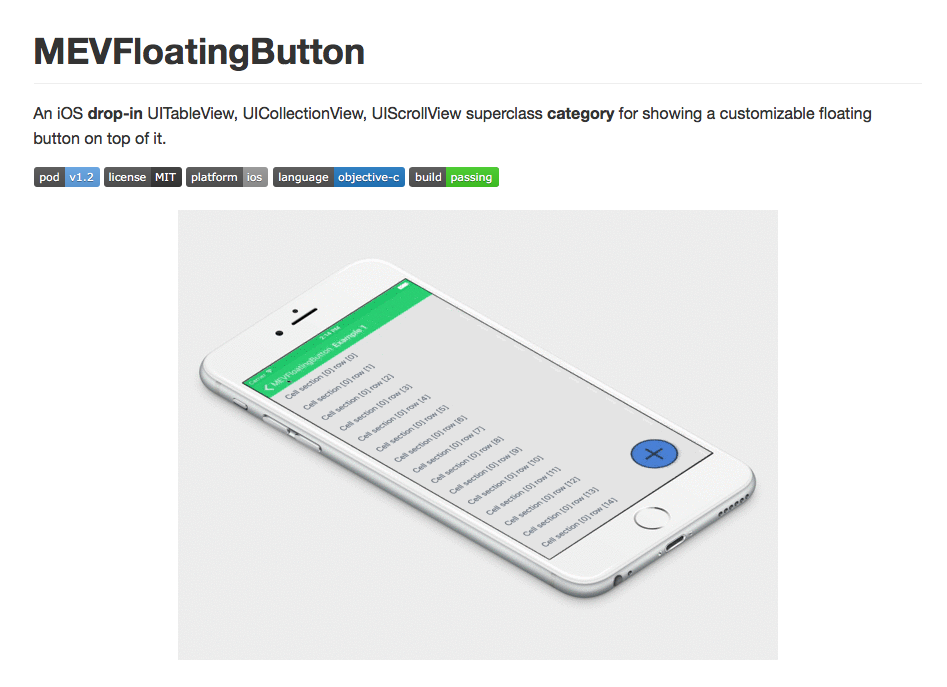 MEVFloatingButton
